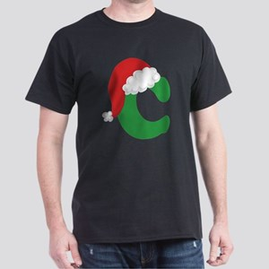 Christmas Letter C Alphabet White T-Shirt