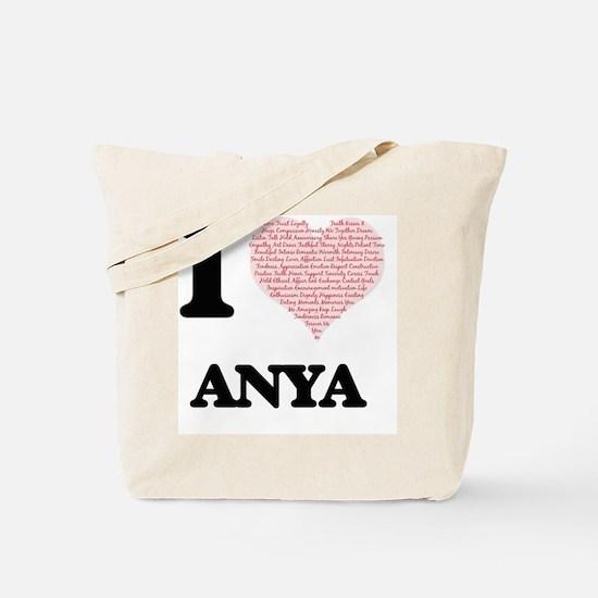 I love Anya (heart made from words) desig Tote Bag