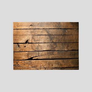 Wood 5'x7'Area Rug
