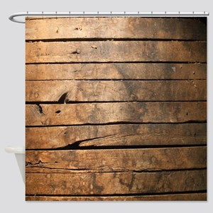 Wood Shower Curtain