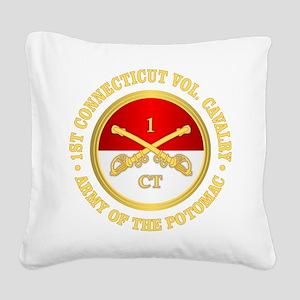 1st Connecticut Cavalry Square Canvas Pillow
