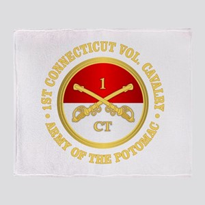 1st Connecticut Cavalry Throw Blanket