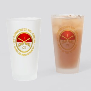 1st Connecticut Cavalry Drinking Glass