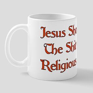 Shit Slapping Jesus Mug