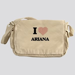 I love Ariana (heart made from words Messenger Bag