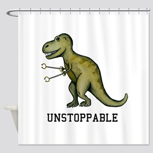 T-Rex Unstoppable Shower Curtain