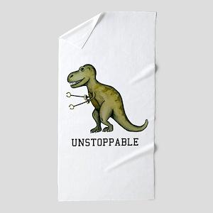 T-Rex Unstoppable Beach Towel