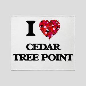 I love Cedar Tree Point Rhode Island Throw Blanket