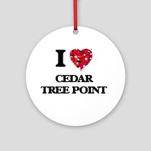 I love Cedar Tree Point Rhode Islan Round Ornament