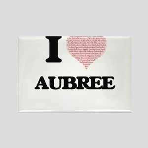 I love Aubree (heart made from words) desi Magnets