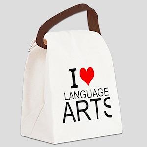 I Love Language Arts Canvas Lunch Bag