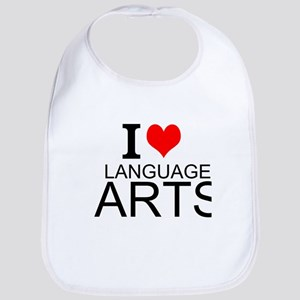 I Love Language Arts Bib