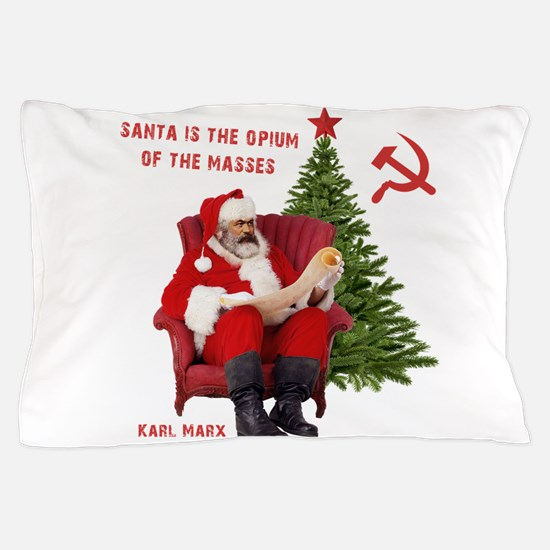 Karl Marx Santa Pillow Case
