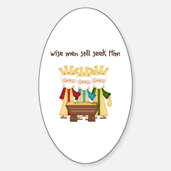 Unique Religious christmas Sticker (Oval)