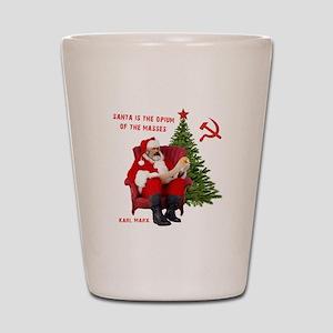 Karl Marx Santa Shot Glass