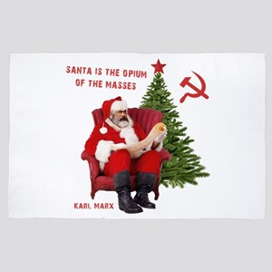 Karl Marx Santa 4' x 6' Rug