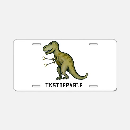 T-Rex Unstoppable Aluminum License Plate