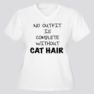 Cat Hair Plus Size T-Shirt
