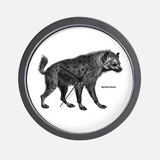 Spotted Hyena Wall Clock