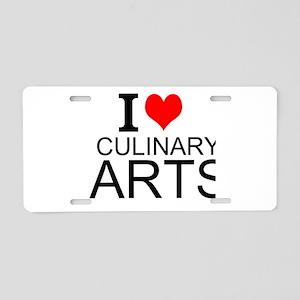 I Love Culinary Arts Aluminum License Plate