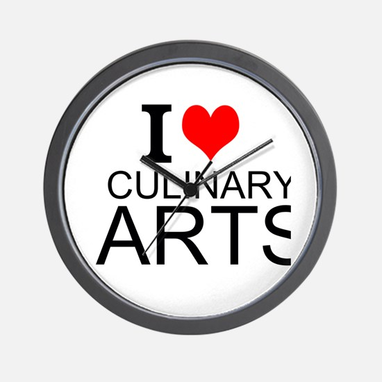 I Love Culinary Arts Wall Clock