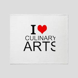 I Love Culinary Arts Throw Blanket