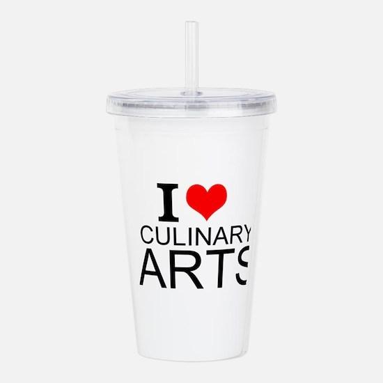 I Love Culinary Arts Acrylic Double-wall Tumbler