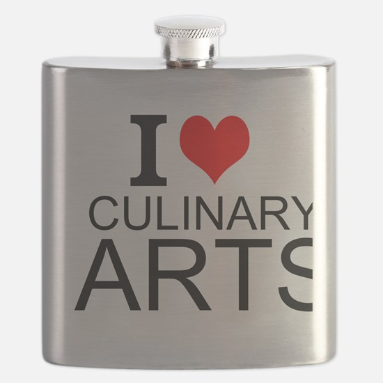 I Love Culinary Arts Flask