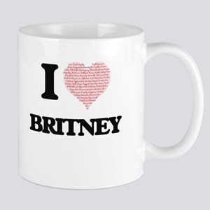 I love Britney (heart made from words) design Mugs