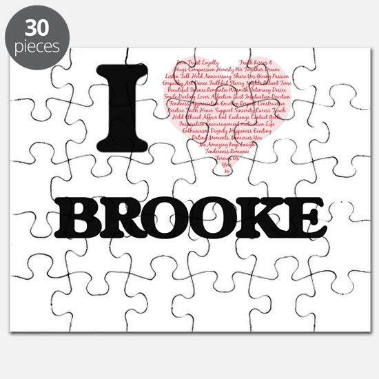 I love Brooke (heart made from words) desig Puzzle