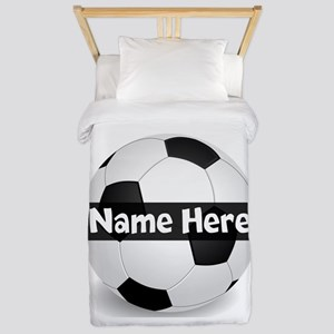 Personalized Soccer Ball Twin Duvet Cover