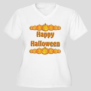 Happy Halloween 3 Women's Plus Size V-Neck T-Shirt
