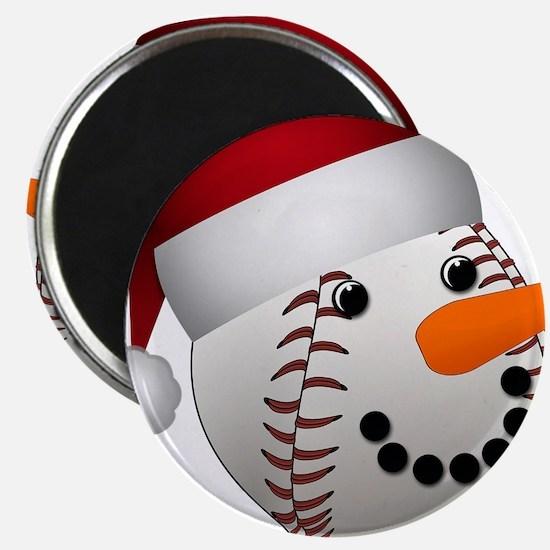 Christmas Baseball Snowman Magnets