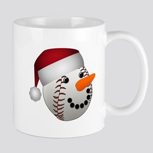 Christmas Baseball Snowman Mugs