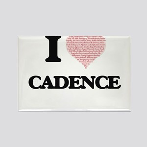 I love Cadence (heart made from words) des Magnets