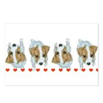 Jack Russell Puppies! Postcards (Package of 8)