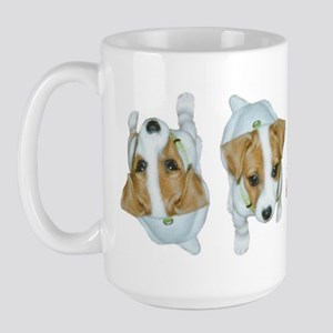 Jack Russell Puppies! Large Mug