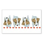 Jack Russell Puppies! Rectangle Sticker