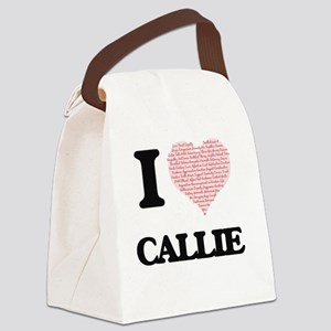 I love Callie (heart made from wo Canvas Lunch Bag