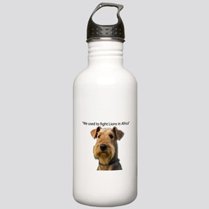 Airedales used to Figh Stainless Water Bottle 1.0L