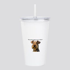 Airedales used to Figh Acrylic Double-wall Tumbler