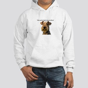 Airedales used to Fight Lions in Hooded Sweatshirt