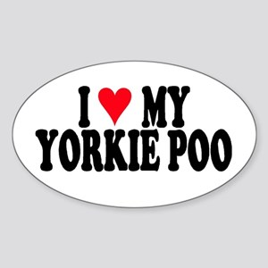 Yorkie Poo Oval Sticker
