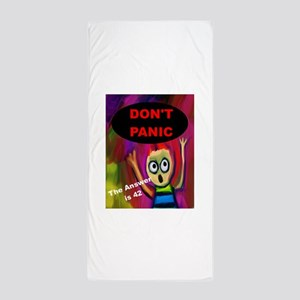 Don't Panic - The Answer is 42 Beach Towel