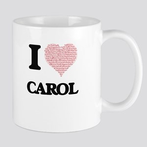 I love Carol (heart made from words) design Mugs