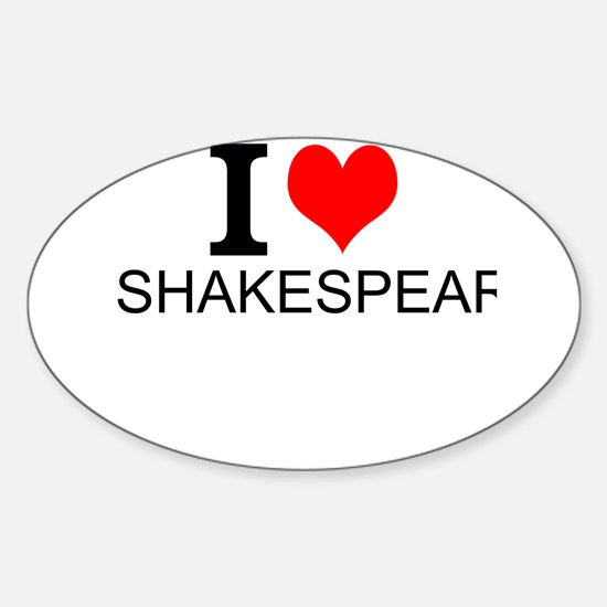 I Love Shakespeare Decal