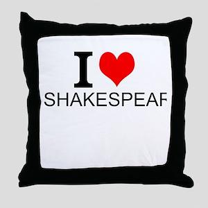 I Love Shakespeare Throw Pillow