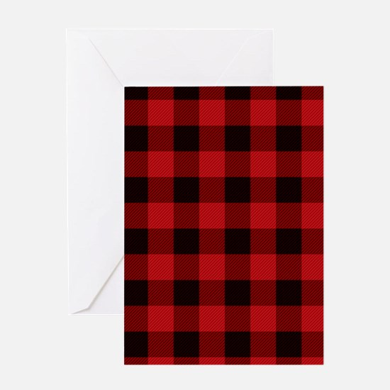 Red Plaid Greeting Cards