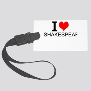 I Love Shakespeare Luggage Tag