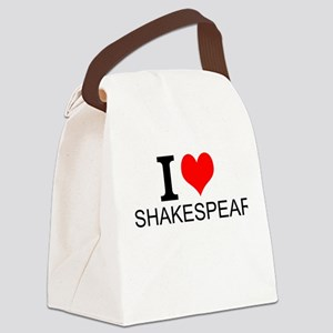 I Love Shakespeare Canvas Lunch Bag